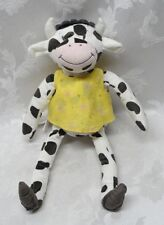 "Spotted Black Cow IKEA Fabler Ko Farm 15"" Soft Plush Stuffed Toy Animal Holstein"