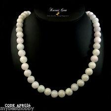 """Vintage Jadeite Jade Necklace Type A 20"""" 8-9mm 55 Beads Strain Genuine Gemstone"""
