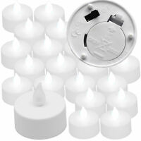 Qty 20 Battery Operated, Flickering WHITE LED Tealights Tea Lights Flameless