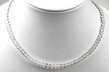 Halskette Kette Edelsteine Natur Bergkristall Kugel 5mm