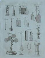 1797 Original Estampado Electricidad Varios Apparatus Equipment Experimentos De