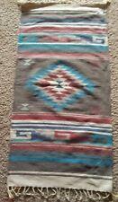 "Handwoven Genuine Zapotec Wool Rug  Southwest Design 30"" × 60"""
