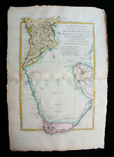 1787 BONNE & DESMAREST -Original map SOUTH-CENTRAL AFRICA, GUINEA, CONGO, ANGOLA