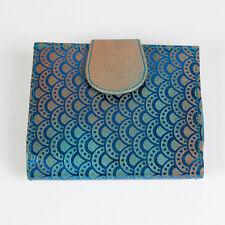 Sass and Belle Quadrat Leder portemonnaie Marokkanisch Geometrische aufdruck