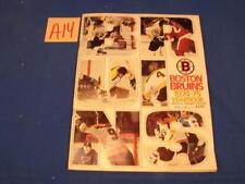 A14 VINTAGE 1974-75 BOSTON BRUINS OFFICIAL YEARBOOK NHL BOBBY ORR No 4