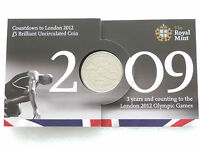 2009 Royal Mint London 2012 Olympic Games Countdown BU £5 Five Pound Coin Pack