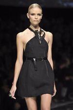 **Versace** Black Dress with Intricate Zipper Heart  IT 40 **GORGEOUS** WOW