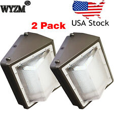 2Pack 100W Led Wall Pack Light Commercial Grade Outdoor Perimeter Security Light