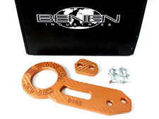 JDM Orange Anodized Aluminium Racing Rear Car Tow Towing Hook Trailer Universal