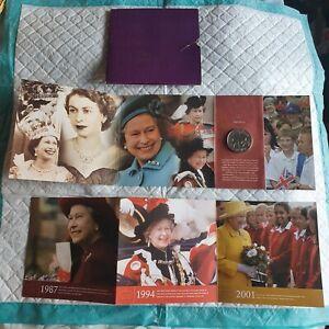 QUEEN ELIZABETH II GOLDEN JUBILEE UNITED KINGDOM £5 UNCIRCULATED COIN