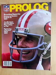 NFL PROLOG Magazine JOE MONTANA 1985 49ers NM/M