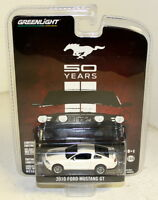Greenlight 1/64 Scale - '50 Years' 2010 Ford Mustang GT White Diecast model car