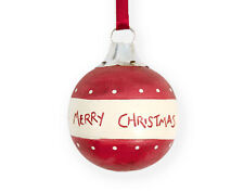 SALE - Merry Christmas Vintage Style Wooden Bauble - Cracker Filler Gift