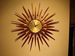 Seth Thomas 1969 Sunburst / Starburst Wall Clock..