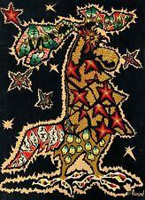 """Jean LURÇAT (1892-1966) """"Fanfare"""". Impression sur tissu signée en bas à droite"""