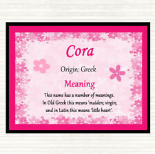 Cora Name Meaning Mouse Mat Pad Pink