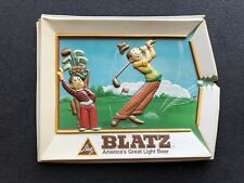 VTG 1975 Blatz Beer Golf Cartoon Sign 3D Vacuform Heileman La Crosse WI