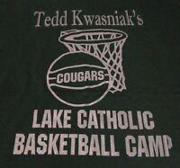 Catholic School COUGARS Basketball CAMP T Shirt NWOT Never Worn size Medium