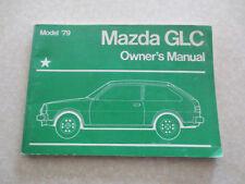 1979 Mazda GLC owners manual