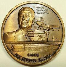 USS Ronald Reagan (CVN-76) Aircraft Carrier Commander Navy Challenge Coin