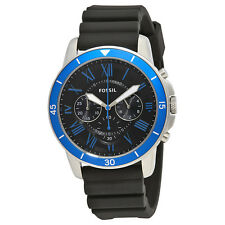 Fossil Grant Sport Chronograph Black Dial Mens Watch FS5300