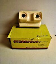 """Stéréoscope     Stéréoclic """"junior"""" - couleur ivoire avec sa boite"""