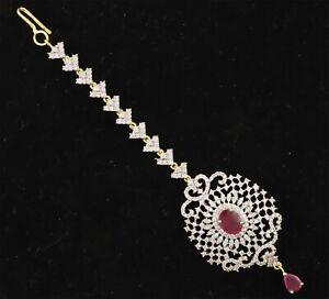 Exclusive Hair Pendant Mang Tikka Cubic Zirconia Fashion Jewelry 14 RT 6