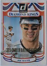 2014 DONRUSS JOE MAUER DIAMOND KING SN#/323 MINNESOTA TWINS