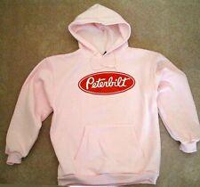 new PETERBILT Trucks Logo TRUCK MACK kenworth PINK hoodie sweatshirt LARGE
