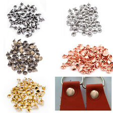 100pcs Two Piece Double Cap Tubular Rivets Leather Craft Cloth Repair 6mm - 15mm