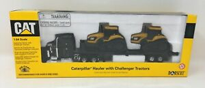 Caterpillar Cat Hauler with Tractors Die-Cast Toy 1:64 Scale by Norscot New NIB