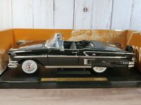 Motor Max 1958 Chevy Impala Convertible 1:18 Scale Diecast Model Car Black