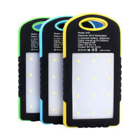 DIY Waterproof 5000Mah Solar LED Empty Box Case For Power Bank Battery Charge P*