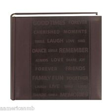 DA200WRDS Pioneer Photo Album 200 Pictures 4x6 Brown Frame Embossed Faux Leather