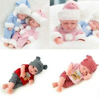 Kids Gift - 10'' Reborn Baby Dolls Twins Realistic Newborn Toy Boy + Girl Doll