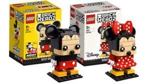 LEGO® Brickheadz 41624 + 41625 Mickey & Minnie Mouse Brand New
