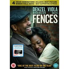 Fences 2016 Denzel Washington Viola Davis Genuine R2 DVD UV