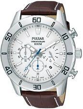 PNP pt3433x1 Pulsar Gents Orologio Cronografo Cinturino in Pelle