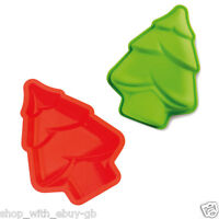 5 x Christmas Xmas Chocolate Silicone Tree Mould Bakeware Candy Soap Cookie Cake