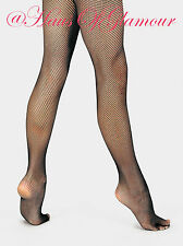 Fishnet Dance Tights Pantyhose in Natural Tan, Black & White-Plain or Seamed