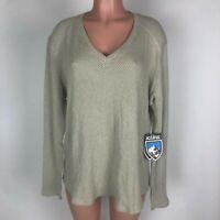 Kuhl Womens Sweater Lyrik Beige V Neck Pullover Size XL NEW $79