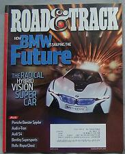 2010 March Road & Track Magazine BMW HYBRID VISION