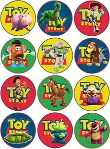 24 Toy Story Fairy Cake Toppers Edible Party Decorations