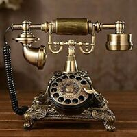 Vintage Rotary Dial Telephone Gold Bronze Retro Phone Antique Collector Gifts