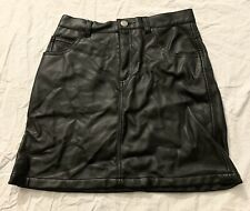 Old Navy Girl's Junior's Pleather Black Skirt Size 12 With Pockets