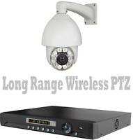 2500ft Long Distance Wireless Transmission PTZ Security Camera Night Vision DVR