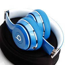SOLO HD 2.0 DR. DRE BEATS WIRED LIGHT BLUE ON EAR HEADPHONES