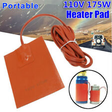 Car Engine Heater Oil Pan Tank Heater 175W 110V Pad Heater 2M Adhesive Free Ship