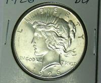 BU 1926 Peace Silver Dollar Uncirculated Philadelphia Mint (91219)