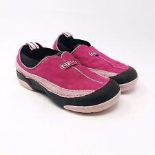 CROCS Dawson Shoes Girls Slip-On Fleece Lined Suede Shoe Size Kids 1 Pink Brown